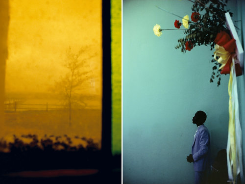 Left: Rebecca Norris Webb, Stained Glass; Right: Alex Webb, Arcahaie, Haiti