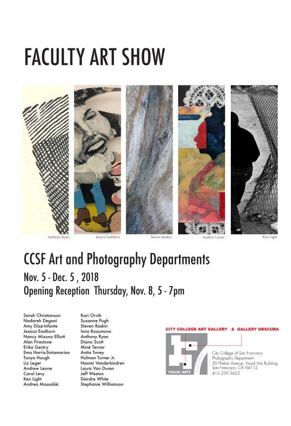 CCSF faculty show flyer